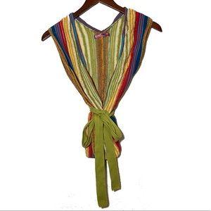 Old Navy Rainbow Tie Knit Shirt Size Medium